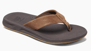 Reef Men's Sandals 7 Reef, Men's Leather Phantom II Sandal (Bronze)