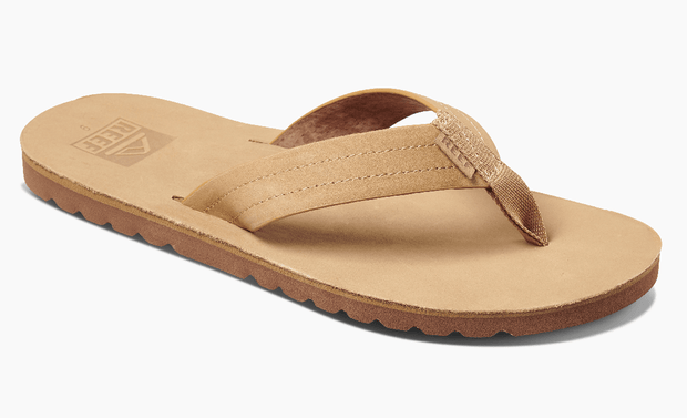 Reef Men's Sandals 8 Reef, Men's Voyage Leather Sandal (Tan)