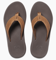 Reef Men's Sandals Reef, Men's Leather Phantom II Sandal (Bronze)