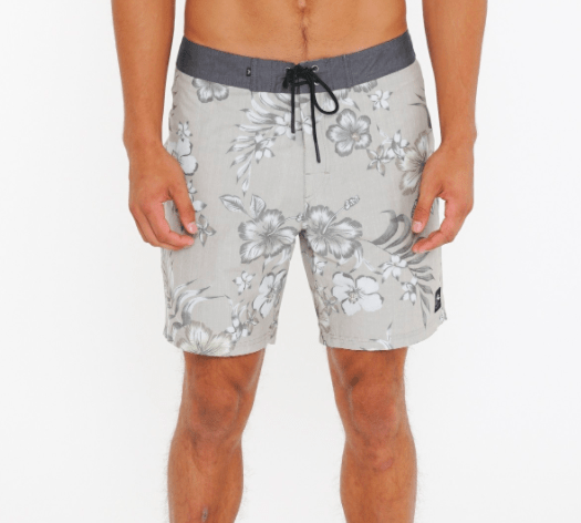 Rusty Men's Bathing Suit 32 / Light Fennel Rusty, Men's TT Boardshort (Warm Grey)