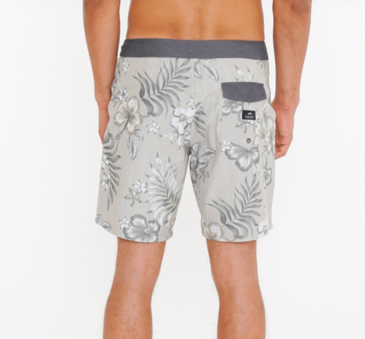 Rusty Men's Bathing Suit Rusty, Men's TT Boardshort (Warm Grey)