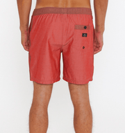 Rusty Men's Bathing Suit Rusty, Momento Elastic Volley Surf Short (Brick Red)