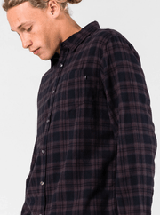 Rusty Men's Flannel Large / Black Rusty, Men's Carton Flannel (Black)