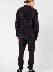 Rusty Men's Flannel Rusty, Men's Carton Flannel (Black)