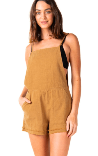 Rusty Women's Rompers Large / Camel Rusty, Women's Heartbreaker Playsuit (Camel)
