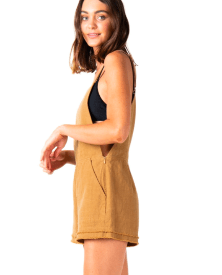 Rusty Women's Rompers Rusty, Women's Heartbreaker Playsuit (Camel)