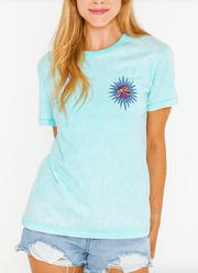 Rusty Women's Tee Shirt Large / Sea Glass Rusty, Women's Blaze Tee (Sea Glass)