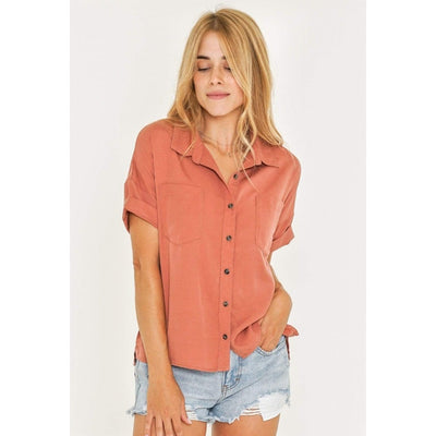 Rusty Women's Tops Rusty, Women's Aries Shirt (Dusty Pink)