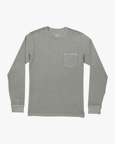 RVCA Men's Long Sleeve Tee Large / Aloe Green RVCA, Men's PTC Pigment Tee (Aloe)