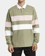 RVCA Men's Long Sleeve Tee RVCA, Men's Johnsy Long-Sleeve Polo Shirt (Aloe Green)