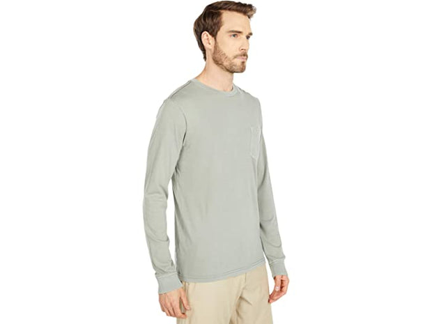 RVCA Men's Long Sleeve Tee RVCA, Men's PTC Pigment Tee (Aloe)