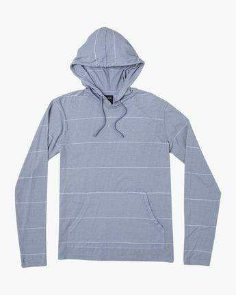 RVCA Men's Sweatshirt Large / Blue RVCA, Men's PTC Striped Hoodie Sweatshirt (Blue)