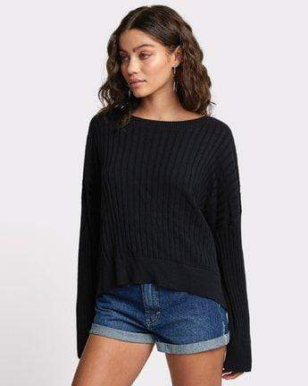RVCA Women's Sweaters Large / Black RVCA, Women's Sydney Sweater (Black)