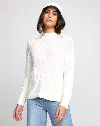 RVCA Women's Sweaters Large / Off White RVCA, Women's Arabella Sweater (Off White)