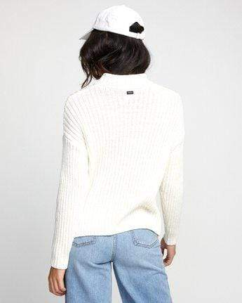 RVCA Women's Sweaters RVCA, Women's Arabella Sweater (Off White)