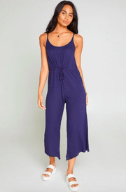 Sadie & Sage Women's Jumpsuits Large / blue Sadie & Sage, Women's Ride With Me Jumpsuit (Dark Blue)
