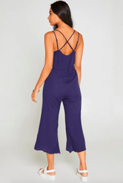 Sadie & Sage Women's Jumpsuits Sadie & Sage, Women's Ride With Me Jumpsuit (Dark Blue)