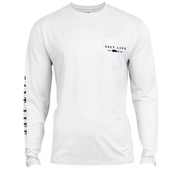 Salt Life Men's Long Sleeve Tee Salt Life, Men's Respect Performance Long-Sleeve Pocket T-Shirt (White)