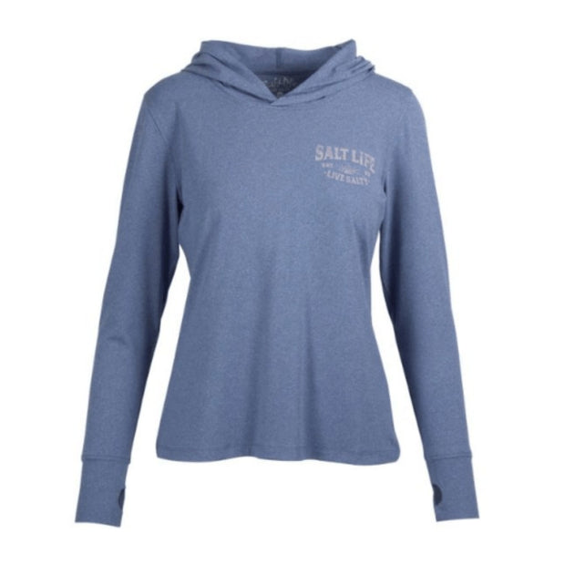 Salt Life, Women's Salty Sunset Performance Hoodie (Blue)