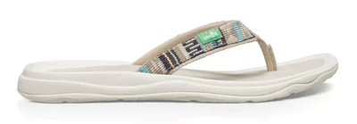 Sanuk Women's Sandals 6 Sanuk, Women's Tripper H2O Yeah Sandal (White and Blue)