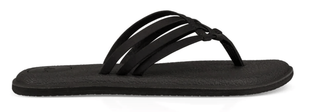 Sanuk Women's Sandals 6 Sanuk, Women's Yoga Salty Sandal (Black)