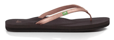 Sanuk Women's Sandals Rose Gold / 6 Sanuk, Women's Yoga Joy Metallic Sandal (Multiple Colors)