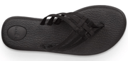 Sanuk Women's Sandals Sanuk, Women's Yoga Salty Sandal (Black)