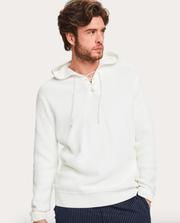 Scotch and Soda Men's Sweatshirt Large / White Scotch & Soda, Men's Hooded Beach Pullover (White)