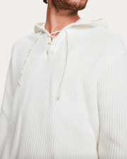 Scotch and Soda Men's Sweatshirt Scotch & Soda, Men's Hooded Beach Pullover (White)
