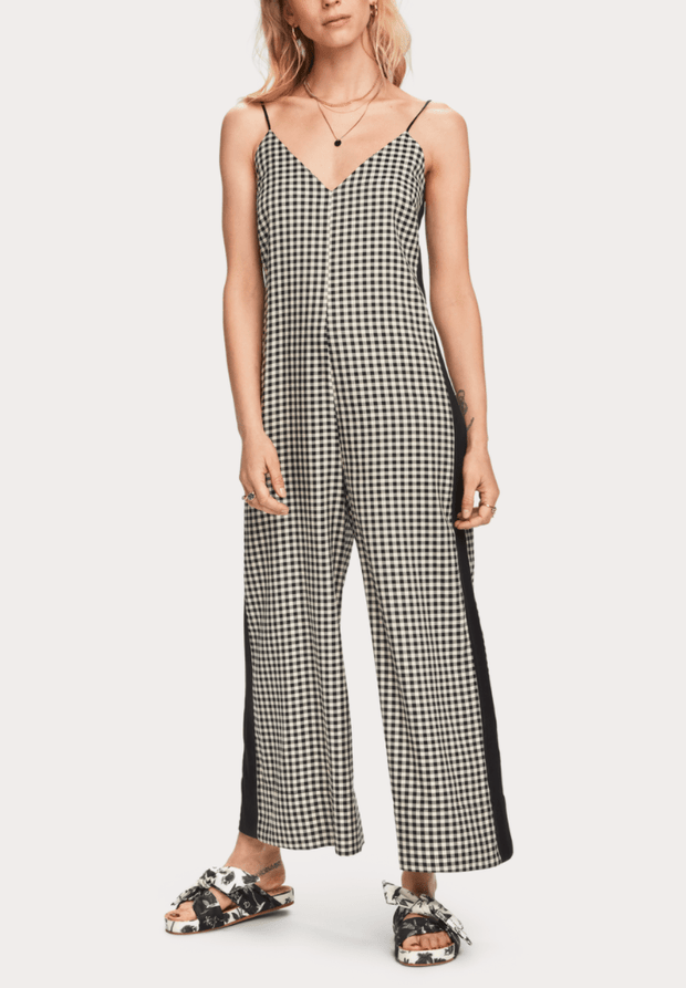 Scotch and Soda Women's Jumpsuits Medium / Black and White Scotch and Soda, Women's Checked Jumpsuit (Black and White)