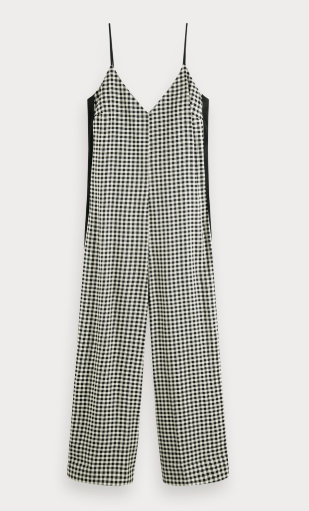 Scotch and Soda Women's Jumpsuits Scotch and Soda, Women's Checked Jumpsuit (Black and White)