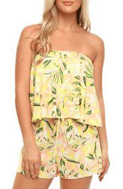 Shore Women's Rompers Large / Palm Yellow Shore, Women's Montauk Romper (Yellow)