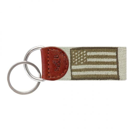 Smathers & Branson Key Fobs Smathers and Branson, Armed Forces Flag Needlepoint Key Fob (Green)