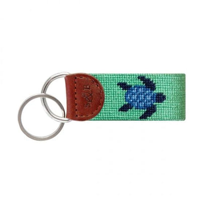 Smathers & Branson Key Fobs Smathers and Branson, Sea Turtle Needlepoint Key Fob (Mint Green)
