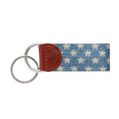 Smathers & Branson Key Fobs Smathers and Branson, Stars and Stripes Needlepoint Key Fob (Blue and Red)