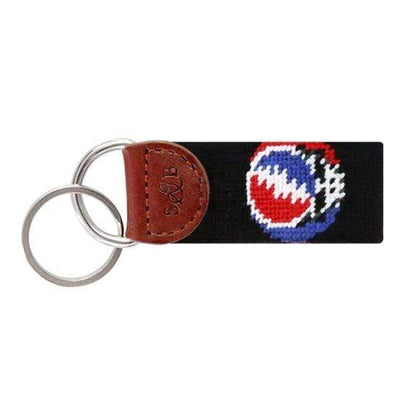 Smathers & Branson Key Fobs Smathers and Branson, Steal Your Face, Grateful Dead Needlepoint Key Fob (Black)