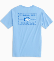 Southern Tide Men's Tee Shirt Large / Ocean Blue Southern Tide, Men's Skipjack Tee (Blue)