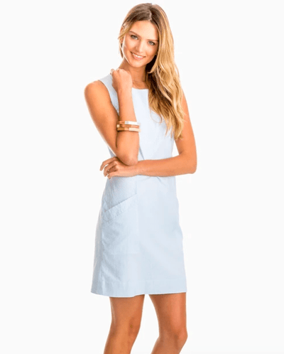 Southern Tide Women's Dresses 2 / Blue Southern Tide, Women's Paislee Seersucker Dress (Multiple Colors)