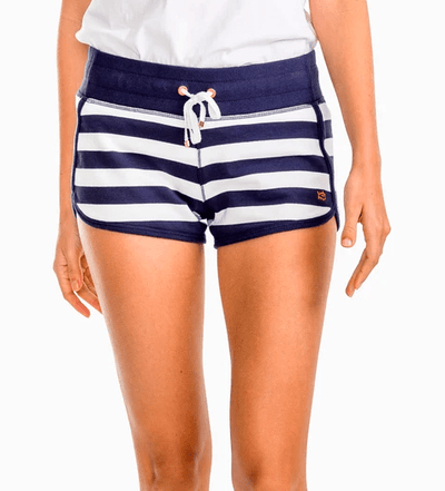 Southern Tide Women's Shorts Large / Navy White Southern Tide, Women's Striped Drawstring Short (Navy)