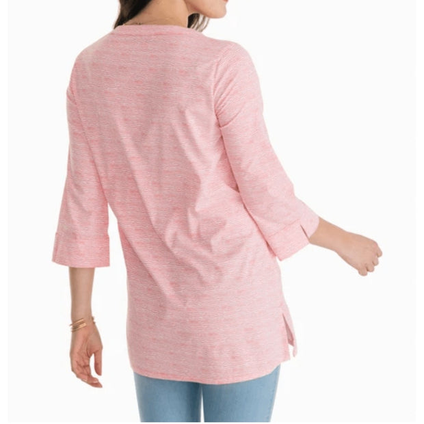 Southern Tide Women's Tops Southern Tide, Women's Haley Intercoastal Tunic (Pink)