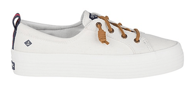 Sperry Women's Shoes 6.5 / white Sperry, Women's Crest Vibe Platform (White)