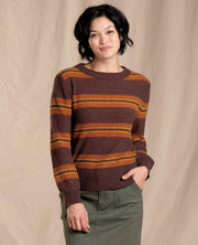 Toad & Co. Women's Sweaters Large / Mahogany Toad & Co, Women's Cotati Crew Sweater (Burnt Sienna Orange)