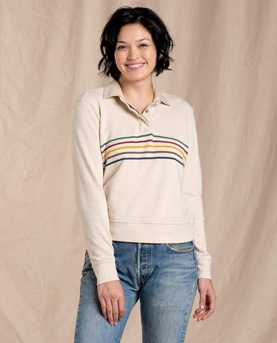 Toad & Co. Women's Tops Large / Oatmeal Toad & Co, Women's Follow Through Pullover (Oatmeal)