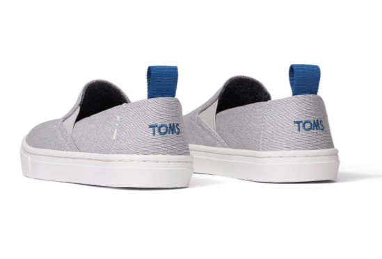 TOMS Kid's Shoes Toms, Kids Luca Slip-On Shoes (Drizzle Grey)