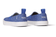 TOMS Kid's Shoes Toms, Kids Luca Slip-Ons (Vallarta Blue)