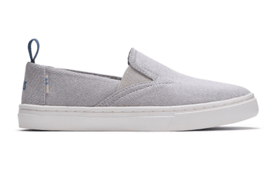 TOMS Kid's Shoes Youth 1 / Drizzle Grey Toms, Kids Luca Slip-On Shoes (Drizzle Grey)