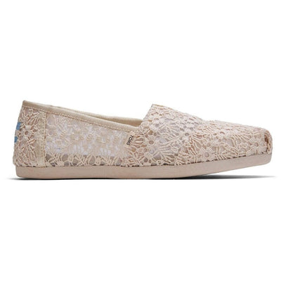 TOMS, Women's Floral Lace Slip On (Natural)
