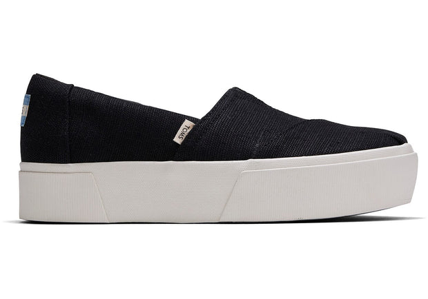 TOMS Women's Shoes 6 TOMS, Women's Boardwalk Platform Shoes (Black)