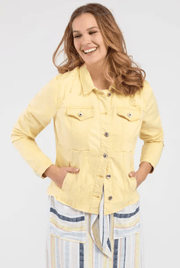 Tribal Women's Jacket Marigold Yellow / Large Tribal, Women's Jean Jacket (Yellow)