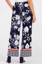 Tribal Women's Pants Tribal, Women's Floral Palazzo Pant (Ultramarine Blue)